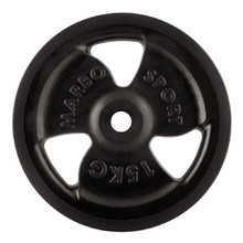 Rubber Coated Weight Plate Marbo Sport MW-O15G 15 kg