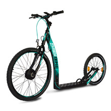 E-Scooter Mamibike EASY w/ Quick Charger 2020 - Black-Turqouise