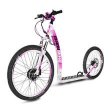 E-Scooter Mamibike MOUNTAIN w/ Quick Charger 2020 - White-Pink