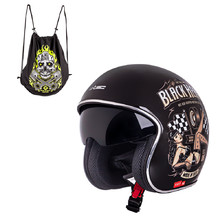 Motorcycle Helmet W-TEC V537 Black Heart - Melisa, Black Sheen