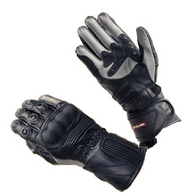Leather Motorcycle Gloves Spark Modena - Black-Grey
