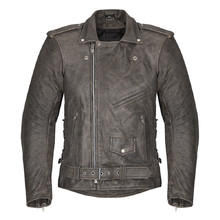 Men's Leather Moto Jacket W-TEC NF-1127