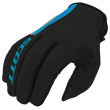 Motocross Gloves Scott 350 Dirt MXVI - Blue-Gray