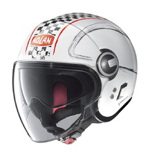 Motorcycle Helmet Nolan N21 Visor Getaway - Metal White-Red