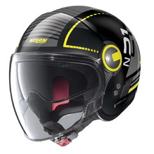 Motorcycle Helmet Nolan N21 Visor Runabout - Metal Black-Yellow
