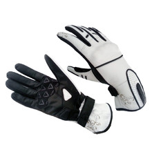 Lady's moto gloves Spark Lady Nella - White