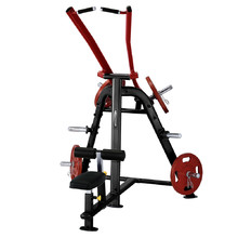 Lat Pulldown Machine Steelflex PlateLoad Line PLLA - Black-Red
