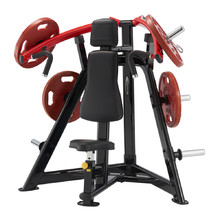 Shoulder Press Machine Steelflex PlateLoad Line PLSP - Black-Red