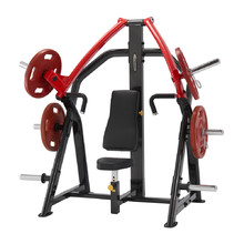 Incline Chest Press Machine Steelflex Plateload Line PSIP - Black-Red