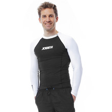 Men's Long Sleeve Rashguard Jobe - Black-White