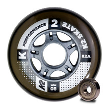 Inline Wheels with Bearings K2 Performance 80 mm – 8 Pieces