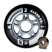 Inline Wheels with Bearings K2 Performance 84 mm – 8 Pieces