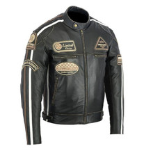 Leather Moto Jacket BOS 2058 Antique