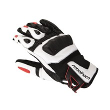 Men moto gloves Rebelhorn Flux - Black-White