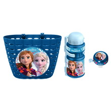 Bicycle Set Frozen (Basket, Water Bottle, Bell) – Blue