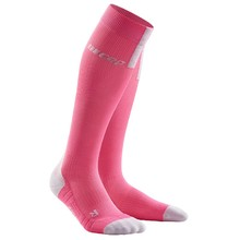 Women's Compression Running Socks CEP 3.0 - Rose Pink/Light Grey