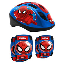 Children's Helmet + Protectors Set Spiderman