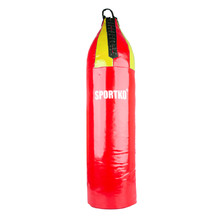 Children's Punching Bag SportKO MP7 24x80cm - Red-Yellow