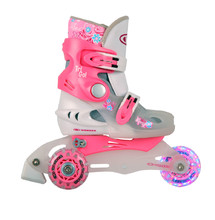 Children's Rollerblades WORKER TriGo Skate LED – with Light-Up Wheels - Pink