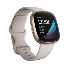 Smart Watch Fitbit Sense White/Soft Gold Stainless Steel