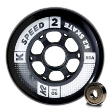 Inline Wheels with Bearings K2 Speed 90 mm – 8 Pieces