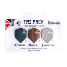 Dart Flights Harrows Carbon Tri Pack