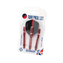 Dart Shaft & Flight Set Harrows Twin Pack Medium - Red