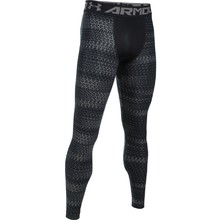 Men's Compression Leggings Under Armour HG Armour 2.0 Novelty - Black/Graphite
