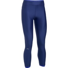 Women's Compression Leggings Under Armour HG Armour Ankle Crop - Blue/Blue/Metallic Silver
