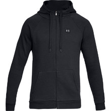 Men's Hoodie Under Armour Rival Fleece FZ - Black/Black