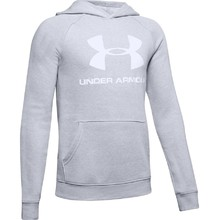 Boys' Hoodie Under Armour Rival Logo - Mod Gray Light Heather