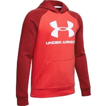 Boys' Hoodie Under Armour Rival Logo - Martian Red