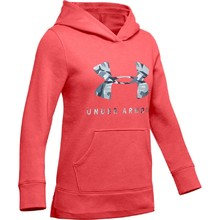 Girls' Hoodie Under Armour Rival Print Fill Logo - Daiquiri