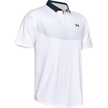 Men's Polo Shirt Under Armour Iso-Chill Graphic - White