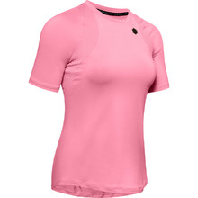 Women's Short Sleeve T-Shirt Under Armour Rush - Lipstick
