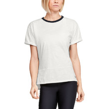 Women's T-Shirt Under Armour Charged Cotton SS - Onyx White