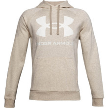 Men's Hoodie Under Armour Rival Fleece Big Logo HD - Highland Buff Light Heather