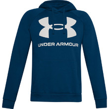 Men's Hoodie Under Armour Rival Fleece Big Logo HD - Graphite Blue