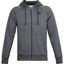 Men's Hoodie Under Armour Rival Fleece FZ - Pitch Gray Light Heather