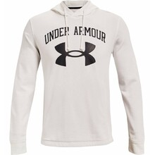 Men's Hoodie Under Armour Rival Terry Big Logo HD - Onyx White