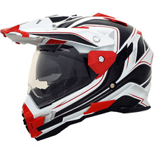 Motocross helmet Cyber UX 33 - White/Red