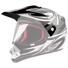 Replacement Visor for WORKER V340 Helmet - Black and Graphics