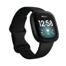 Smart Watch Fitbit Versa 3 Black/Black Aluminum