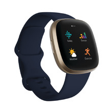 Smart Watch Fitbit Versa 3 Midnight/Soft Gold Aluminum