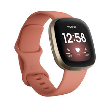 Smart Watch Fitbit Versa 3 Pink Clay/Soft Gold Aluminum