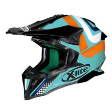 Motocross Helmet X-Lite X-502 Best Trick Aquamarine - Blue-Black