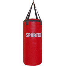 Children's Punching Bag SportKO MP6 29x75cm - Red