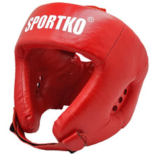 Boxing Head Guard SportKO OK2 - Red