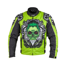 Moto Jacket W-TEC Daemon - Green with Graphics