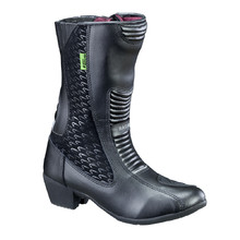 Women's Leather Moto Boots W-TEC NF-6090 - Black